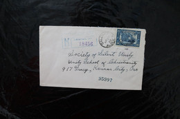 Canada 145 Confederation 1927 12c Map Of Canada On Registered Cover To The US 1929  A04s - Cartas