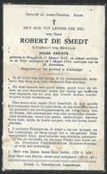 BP073 - BIDPRENT - DOODSPRENT - ROBERT DE SMEDT - BRUGGE 1912 / BRUGGE 1956 - Sin Clasificación