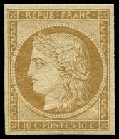 * EMISSION DE 1849 - 1    10c. Bistre-jaune, Bien Margé, Très Frais, TTB - 1849-1850 Cérès