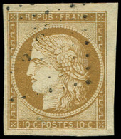 EMISSION DE 1849 - 1    10c. Bistre-jaune, Obl. PC, Frappe Très Légère, Petit Bdf, TTB/Superbe - 1849-1850 Cérès