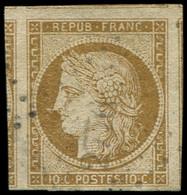 EMISSION DE 1849 - 1    10c. Bistre-jaune, Marges énormes (5 Voisins) Obl. PC, Superbe. C - 1849-1850 Cérès