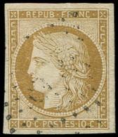 EMISSION DE 1849 - 1    10c. Bistre-jaune, Oblitération PC Léger, TTB - 1849-1850 Cérès