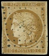 EMISSION DE 1849 - 1a   10c. Bistre-brun, Oblitéré PC, TB - 1849-1850 Cérès