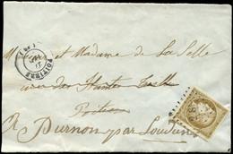 EMISSION DE 1849 - 1b   10c. Bistre-VERDATRE, Voisin à Droite, Obl. PC 2181 S. Grand Fragt, Càd T15 POITIERS 27/(4)/( ), - 1849-1850 Cérès
