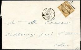 Let EMISSION DE 1849 - 1    10c. Bistre-jaune, Obl. ETOILE S. Faire-part, Càd T1330 8 PARIS 22/9/52, Superbe. J - 1849-1876: Klassieke Periode