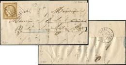Let EMISSION DE 1849 - 1    10c. Bistre-jaune, Obl. GRILLE S. LAC (nom Découpé) Du 28/7/51, Cursive 82/ALLARMONT, Arr. R - 1849-1876: Klassieke Periode