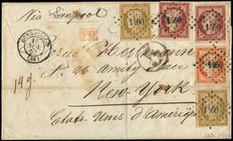 Let EMISSION DE 1849 - 1, 5 Et 6, 10c. Bistre (2 Dt 1 Touché), 40c. Orange Et 1f. Carmin (2 Dt 1 Inf. Déf.), Obl. PC 146 - 1849-1876: Klassieke Periode