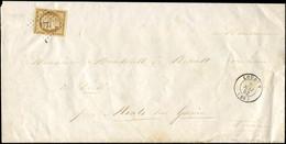 Let EMISSION DE 1849 - 1a   10c. Bistre-brun, Obl. PC 1771 S. Imprimé De Chinon, Càd T15 LOUDUN 4/5/52, Frappes TTB - 1849-1876: Klassieke Periode