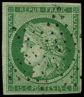 EMISSION DE 1849 - 2    15c. Vert Clair, Obl. ETOILE, TTB - 1849-1850 Cérès