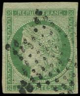 EMISSION DE 1849 - 2    15c. Vert, Obl. ETOILE, TB. C - 1849-1850 Cérès