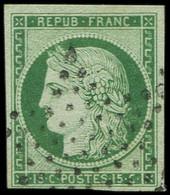 EMISSION DE 1849 - 2b   15c. Vert FONCE, Oblitéré ETOILE, TTB - 1849-1850 Cérès