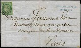 Let EMISSION DE 1849 - 2    15c. Vert, Obl. GRILLE S. LAC De Bordeaux Du 1/2/51, Probablement Mise à La Boite à Paris, A - 1849-1876: Klassieke Periode
