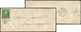 Let EMISSION DE 1849 - 2    15c. Vert, Obl. GRILLE S. LAC, Au Verso Càd PARIS (60) 1/5/51, TB - 1849-1876: Klassieke Periode