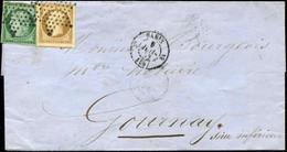 Let EMISSION DE 1849 - 2 Et 9, 15c. Vert Cérès Et 10c. Bistre Présidence, Obl. ETOILE S. LSC, Càd PARIS 9/7/53, Les 2 T. - 1849-1876: Klassieke Periode