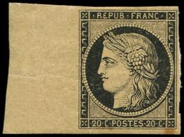 ** EMISSION DE 1849 - 3    20c. Noir Sur Jaune, Bdf, Inf. Rouss. Sinon TB - 1849-1850 Cérès