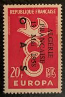 "ALGERIE 1961 - YT1309* - EUROPA - SURCHARGE ""ALGERIE FRANCAISE 13 MAI 1958 OAS"" - Unused Stamps"