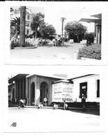 Lot 2 Photos Menton / Placette Et Casino (1954) - A L'affiche Jour : Gilbert Bécaud , Mick Micheyl , Joséphine Baker . - Menton