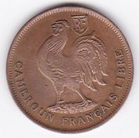 CAMEROUN FRANCAIS LIBRE .1 FRANC 1943. BRONZE. LEC 16 - Cameroon