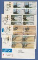 Portugal 1999 ATM Dinosaurier SMD Mi.-Nr. 24-27.1 Je R-Brief Mit 4 ATM 100.00 - Vignette Di Affrancatura (ATM/Frama)