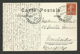 """Cachet D'essai à Pont """" VERSAILLES - Ne - DAME 1914 """" / C.P. >>>> URUGUAY - 1877-1920: Semi Modern Period"""