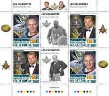 2020-11- DJIBOUTI- FREEMASSON III   4V  MNH** - Freemasonry