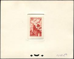 ALGERIE PA 9 : Marabout 50f., épreuve D'atelier Rouge-brun (couleur 1416), TB - Poste Aérienne
