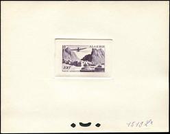 ALGERIE PA 10 : El Kantara 100f., épreuve D'atelier En Violet-gris (couleur 1519), TB - Poste Aérienne