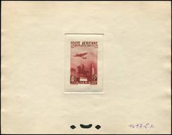 ALGERIE PA 13 : Monument 15f. + 20f., épreuve D'atelier En Brun-rouge (couleur 1417), TB - Poste Aérienne