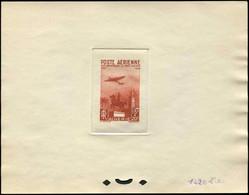 ALGERIE PA 13 : Monument, 15f. + 20f., épreuve D'atelier En Brun (couleur 1420), TB - Poste Aérienne