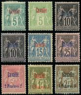 * CAVALLE 1/8 : La Série Sage De 1893-1900, TB - Non Classés