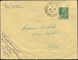 Let FEZZAN Algérie N°183 Obl. POSTE MILITAIRE N°560 20/10/44 S. Env. De Sebha Pour Alger, TB - Non Classés