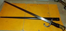 Baïonnette-épée Gras Modèle 1874,Armement :fusilGras M1874,Chassepot M1866,FABRICATION SAINT ETIENNE JUIN 1880 - Knives/Swords