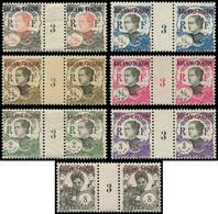 ** KOUANG-TCHEOU 52/55, 57/58 Et 63 : 7 PAIRES Mill.3, TB, Cote Maury - Unclassified