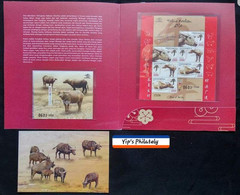 INDONESIA YEAR OF OX 2021 { Postcard + Minisheet And Sheet ] - Indonesia
