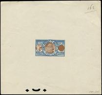 SAINT PIERRE ET MIQUELON Type Pêcheur De 1909-17, épreuve D'artiste En Bleu Et Brun Sans Faciale + Perforation De Contrô - Used Stamps