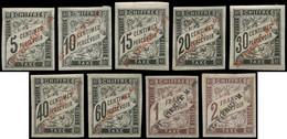 * SAINT PIERRE ET MIQUELON Taxe 1/9 : La Série, N°2, 4 Et 7 (*), TB - Timbres-taxe