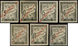 * SAINT PIERRE ET MIQUELON Taxe 1/7 : Duval Noir De 1893, TB - Timbres-taxe