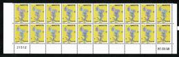 976 MAYOTTE Carte De L'Île  PHIL@POSTE  Bloc De 20 Timbres Bas De Feuille Coin Daté 03.03.08  ** MNH  2 Scan - Sin Clasificación