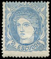 * ESPAGNE 112 : 2e. Bleu, Gomme Coulée, Infime Cl., B/TB. C - Nuevos