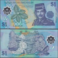 BRUNEI - 1 Ringgit ND (1996) P# 22a Asia Banknote - Edelweiss Coins - Brunei