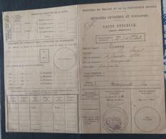"""Timbre Fiscal : Sécurité Sociale, Série """"Retraites Ouvrieres Et Paysannes- 1914 - Fiscali"""