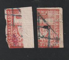 Peru - 1871 - Mi. 16 Auf Geklebter Papierbahn Gestempelt (0462) - Peru