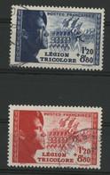 """N° 565 + 566 Cote 25 € """"Légion Tricolore"""". Oblitéré. TB - Used Stamps"""