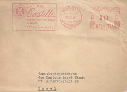 """Freistempel  """"Depal AG, Basel - Rum Castillo""""             1952 - Usati"""
