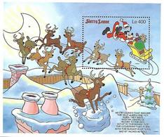 MWD-BK7-410-2 MINT PF/MNH ¤ SIERRA LEONE 1998 BLOCK ¤ CHRISTMAS. CLEMENT MOORE POEMS - Disney