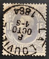 OBP 36 Gestempeld EC LA LOUVIERE 1884 - 1869-1883 Leopoldo II