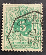 OBP 45 Gestempeld Telegraaf YPRES - 1869-1888 León Acostado