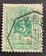 OBP 45 Gestempeld Telegraaf YPRES - 1869-1888 Liggende Leeuw
