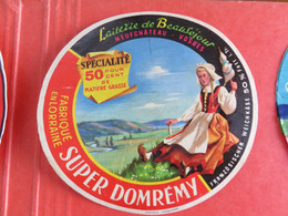 1 étiquette De Fromage Lsuper Domrémy - Cheese