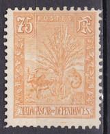 """MADAGASCAR N° 74 De 1903 Neuf """"zébu Et Arbre Du Voyageur"""" Coté 85€ - Unused Stamps"""